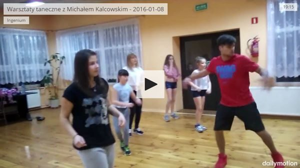 Warsztaty taneczne z Michałem Kalcowskim – 2016-01-08